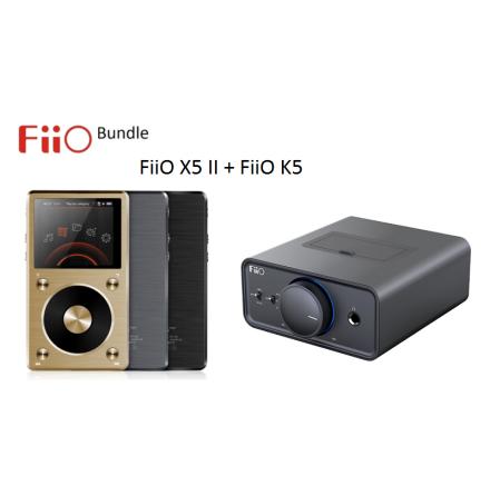 FiiO X5 II Digital Audio Player + FiiO K5 Desktop Förstärkare Bundle
