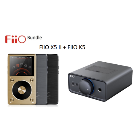 FiiO X5 II Digital Audio Player + FiiO K5 Desktop Förstärkare Bundle