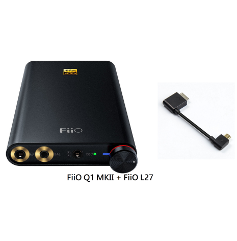 FiiO Q1 Mark II + FiiO L27 Sony kompatibel kabel (bundle)